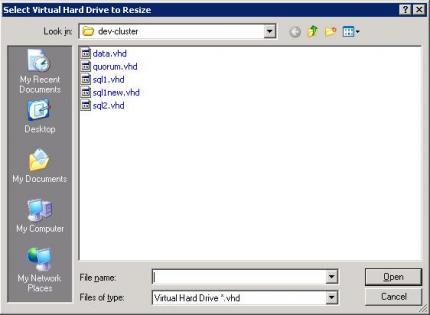 Zvětšení virtuálního disku VHD